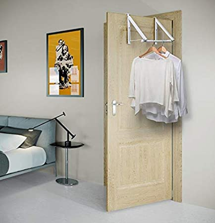 Kit Closet Perchero Invisible Puerta, Blanco