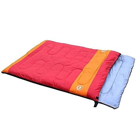 Pareja de doble extremo cilíndrico Camping - Saco de dormir Rojo rojo: Amazon.es: Deportes y aire libre