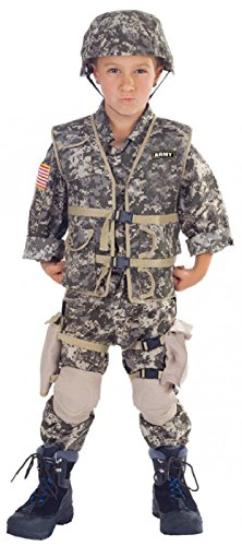 [Army Ranger Deluxe Kids Costume, color Camouflage, Size Small] (Child Army Soldier Costumes)