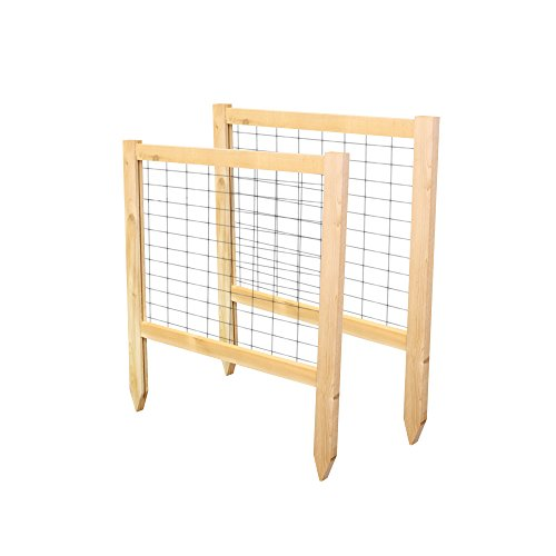 Greenes Fence 2' Critter Guard Cedar Garden Fence (2 Pack), 23.5