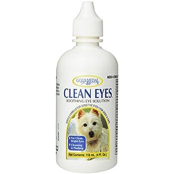 Amazon.com: Medalla de Oro mascotas Ojos de limpieza para ...