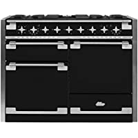 AGA AEL48DF-MBL Elise Dual Fuel Range with 3 Separate Ovens, 48, Matte Black