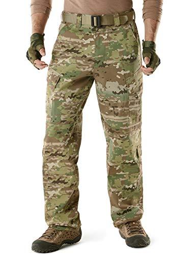 CQR Men's ACU/BDU Rip Stop Trouser EDC Tactical Combat Pants, ACU Tag Button(uap02) - Multi Terrain, Medium(W32-36)-Regular