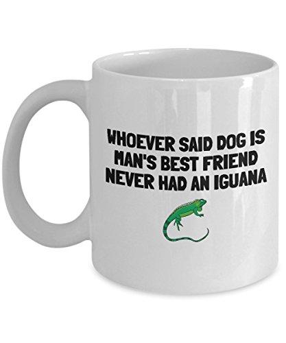 Feddiy Funny Coffee Mug Personalized Mugs 11 Ounces Print Mug Friend Birthday family Gift-Iguana Mans Best Friend