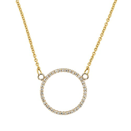 Dazzling 14k Yellow Gold Diamond Circle of Love (0.65