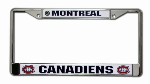(Rico Industries NHL Montreal Canadiens Standard Chrome License Plate Frame )