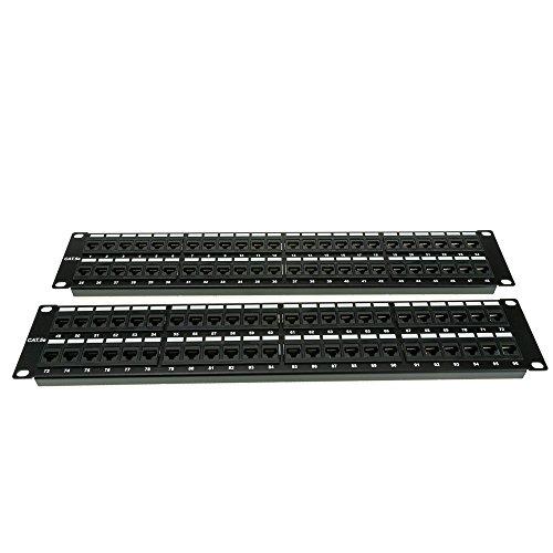 ACL 4 Unit Rackmount 96 Port Cat5e Patch Panel, Horizontal 110 Type 568A & 568B Compatible