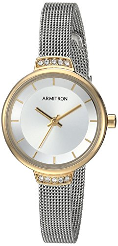 armitron-womens-75-5476svtt-swarovski-crystal-accented-two-tone-mesh-bracelet-watch