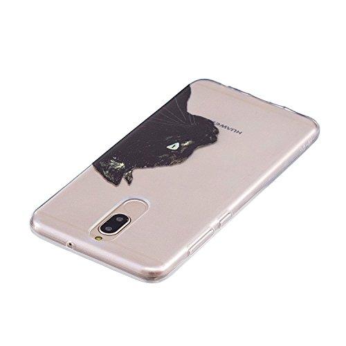 Cover para Huawei Mate 10 Lite , WenJie Transparente Accesorios Regalo TPU Regalo elegante y duradero suave Silicona Suave Funda Case Tapa Caso Parachoques Carcasa Cubierta para Huawei Mate 10 Lite (H