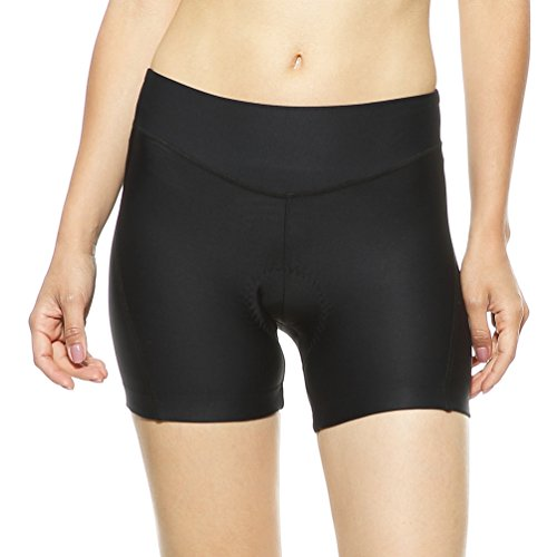 4ucycling Women's Cycling Spinning 3D Padded Brief Underwear Shorts Black M (Womens Triathlon Bike)