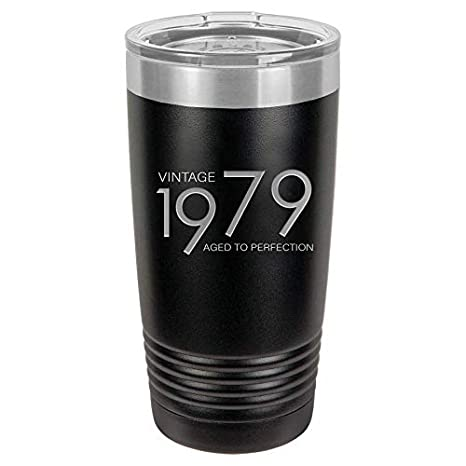 45f3cf716355 1979 40th Birthday Gifts for Men Women Insulated Stainless Steel Tumbler |  40 Year Old Presents 20 oz Black | Best Gift for Mom Dad Wife Husband |  40th ...