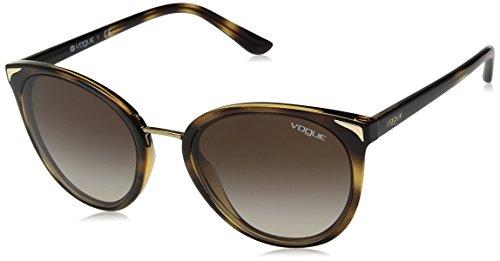 VOGUE Women's 0vo5230s Oval Sunglasses, Dark Havana, 54 ()