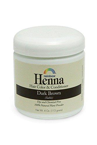 Amazon Com Rainbow Research Dark Brown Henna 4 Oz Beauty