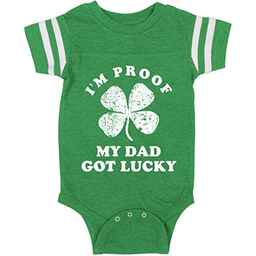 My Dad was Lucky: Infant Rabbit Skins Football Bodysuit for sale  Delivered anywhere in USA