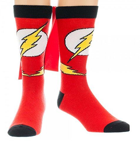 (The Flash Crew Socks with a Cape)