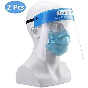 EXCEART Visiera Protettiva in Plastica Trasparente da 2 Pezzi con Protezione Facciale Antispruzzo a Prova di Spruzzo per La Cucina in Laboratorio