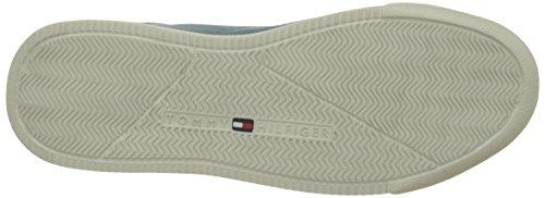 Tommy Hilfiger Casual Suede Low Cut Sneaker, Scarpe da Ginnastica Basse Uomo Blu (Jeans 013)
