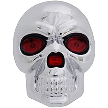 """Skull 1.25"""" & 2"""" Hitch Cover Trailer Towing Hitch Receiver Cover With LED Brake Light"""