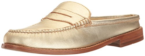 Wynn Closed Bass Womens Mules Toe Gold Leather 5ATSpO