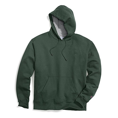 Champion Men's Powerblend Pullover Hoodie, Dark Green, XX-Large