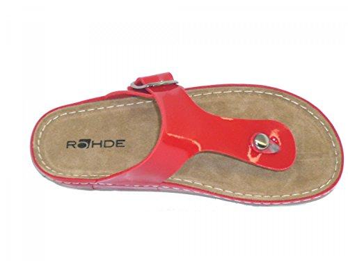 Rohde Riesa - zuecos de material sintético mujer rojo (Red)