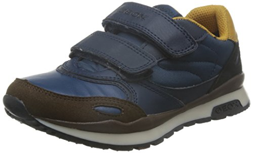 Geox J Pavel J, Zapatillas para Niños Blau (BLUE/YELLOWC0072)