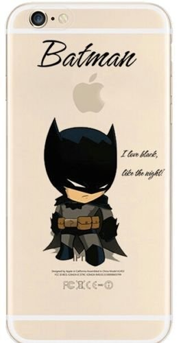 New Marvels Avenger Transparent Clear TPU Soft Case For Apple iPhone 7 BATMAN