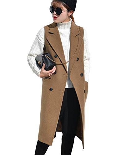 凶暴な政令に関して「ReiRei」レイレイレディース秋冬 英国風 ロング丈 ベスト ウールベストテーラード襟 スリム