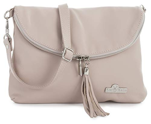 Pink Cross Real Pale Messenger Size Shoulder Soft Bag Leather medium Liatalia Amy Body Small Italian pw6yqaaFX