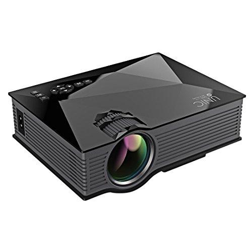 """Stoga UC46 Mini Projecteur Vidéo 1200 Lumens Full Color 130 """"Image Portable LCD LED Cinéma Maison Cinéma Support HD 800 * 480P Vidéo"""
