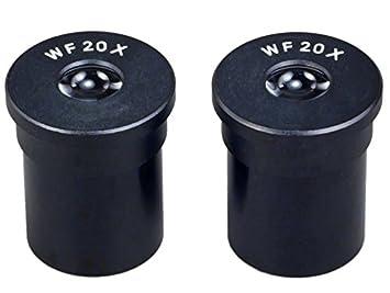 di/ámetro 23.2 Juego de 2 oculares WF 20x para microscopio
