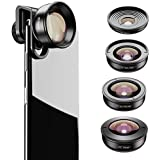 Apexel HD Mobile Phone Camera Phone Lens Set - 10x Macro Lens, 2X Telephoto Lens, 110°Wide Angle, 170°Super Wide Angle, 195°Fisheye for Dual Lens/Single Lens iPhone Pixel Samsung Galaxy Smartphones