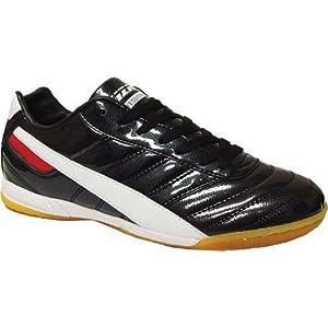 Vizari Elite V90 IN Soccer Shoe (Indoor) - Black/White/Red - 7.5 M US Mens