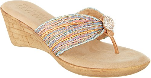 Italian Shoemakers Womens Cayman Pastel Wedges 6 Pastel multi
