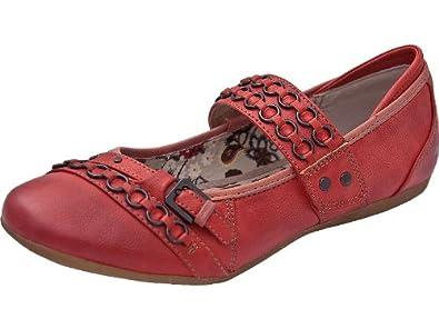 Schuhgröße 42 Feuerrot Rot Ballerina Mustang Ballerinas wUIqXwT