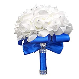 xinchenglove 7.08 inch DIY Customization PE Bride Holding Flowers Wedding Ribbons with Artificial Bouquets Wedding Supplies ADC052 16