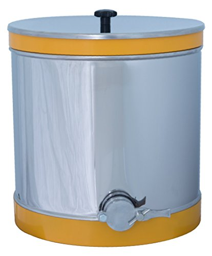ApiHex Honey Settling Storage Tank Stainless Steel Equipment with Conical Bottom and Valve for Bottling (110 lb) ()