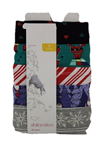 xhilaration-womens-5-pack-holiday-hipster-multi-colored-medium