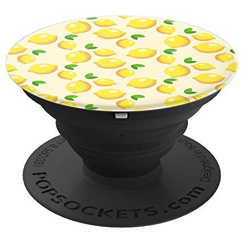 Lemon Fruit Retro Vintage Pattern Art Design Gift - PopSockets Grip and Stand for Phones and Tablets