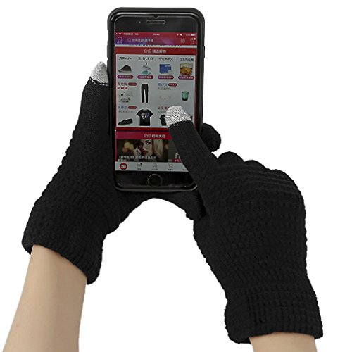 Winter Touchscreen Texting Gloves for Women&Men, Warm Thick Wool Knitted Windproof Gloves Thermal Mittens for Outdoor Skiing Driving Hiking Cycling (Ladies Ultra Riding Gloves)