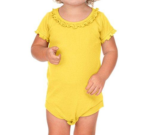 Kavio Infants Sunflower Short Sleeve Onesie, Yellow, 12M