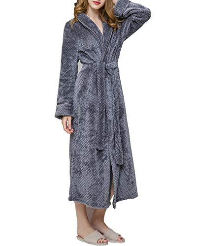 Zixing donne Fine Spugna Morbido In Donna Abbigliamento Grey Asciugamano Da Accappatoio Lusso Comodo Accappatoio Notte Uomo rBqwFxrZn