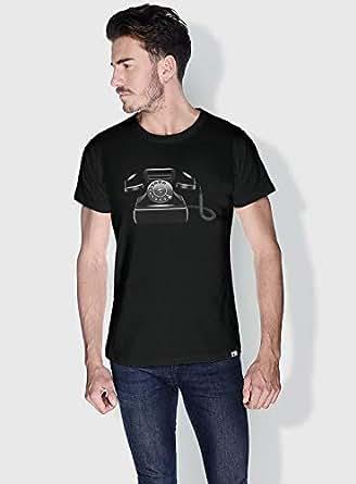 Creo Phone Retro T-Shirts For Men - Xl, Black