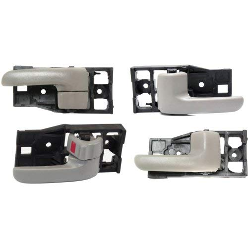 Interior Door Handle Compatible with Toyota Tundra 2000-2006 Front and Rear Door Handle Right Side and Left Side Set of 4 Inside Gray (Charcoal) Extended Cab Pickup