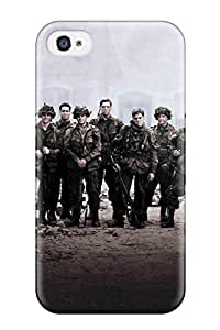 New Snap-on CaseyKBrown Skin Case Cover Compatible With Iphone 4/4s- Band Of Brothers Cast