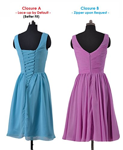 Wisteria DaisyFormals Dress Short w Party V Deep Neckline Straps Gown Bridesmaid BM5196S PdP6nXrqxw