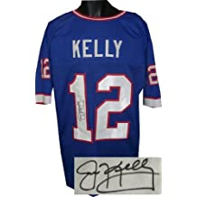 RDB Holdings & Consulting CTBL-B13788 Jim Kelly Signed Blue TB Custom Stitched Pro Style Football Jersey - Extra Large