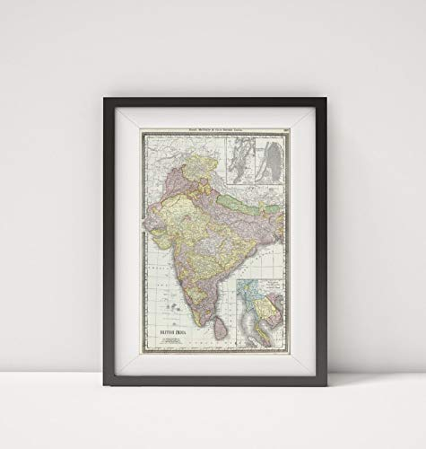 1889 Map of India|British India|Southwest Asia|Title: Rand, McNally & Co.
