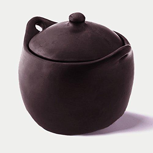 Black Clay, La Chamba Tall Stew Pot - 4 Quarts