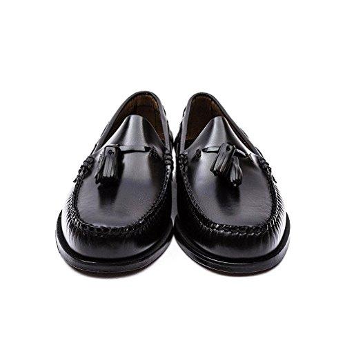 G. H. Bass Mens Weejuns Larkin Moc Tassle Leather Shoes Black